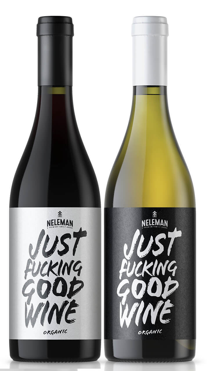 Packaging design / Etikettendesign von Just fucking good wine.