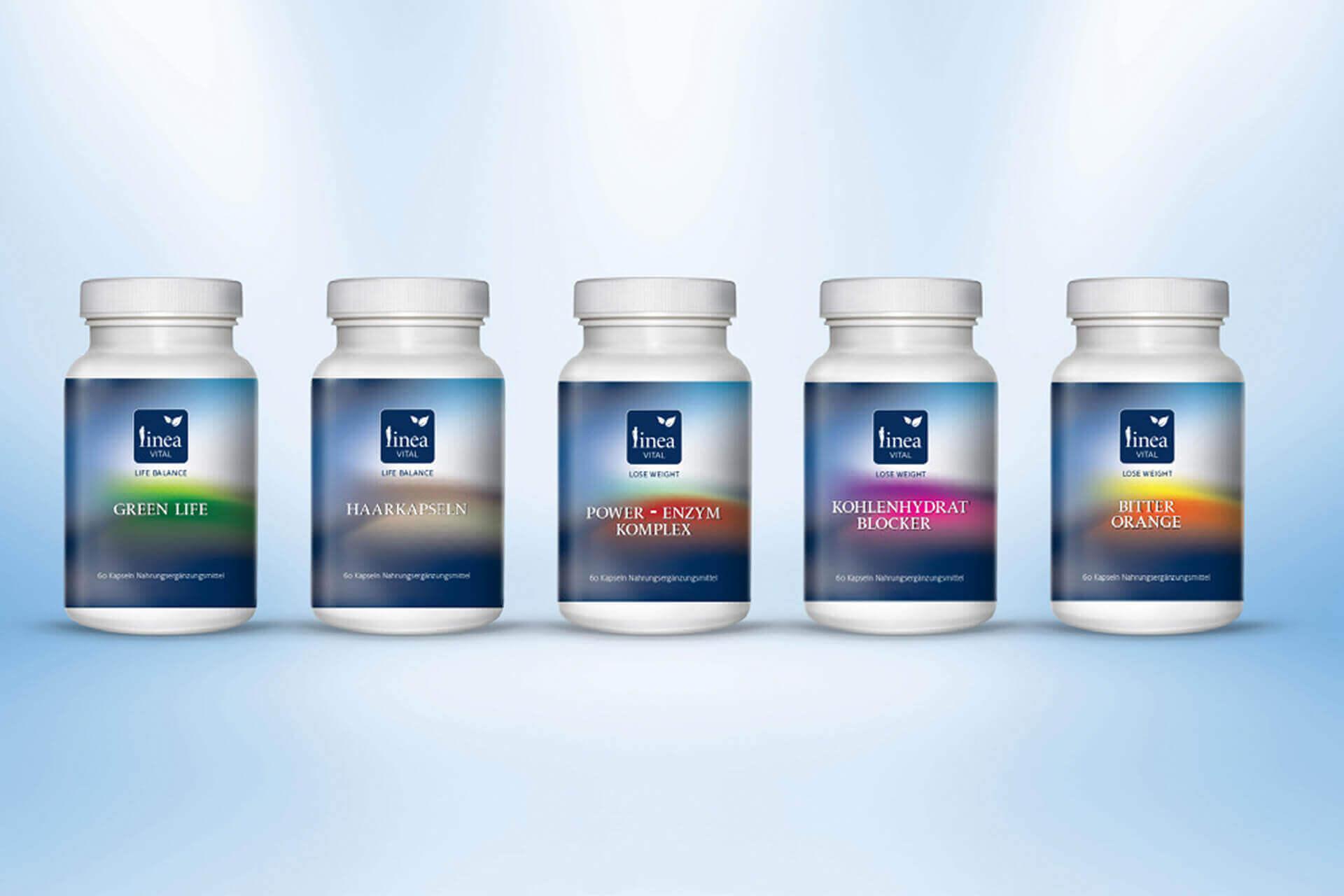 Verpackungsdesign / packaging design Beispiel für Nahrungsergänzungsmittel